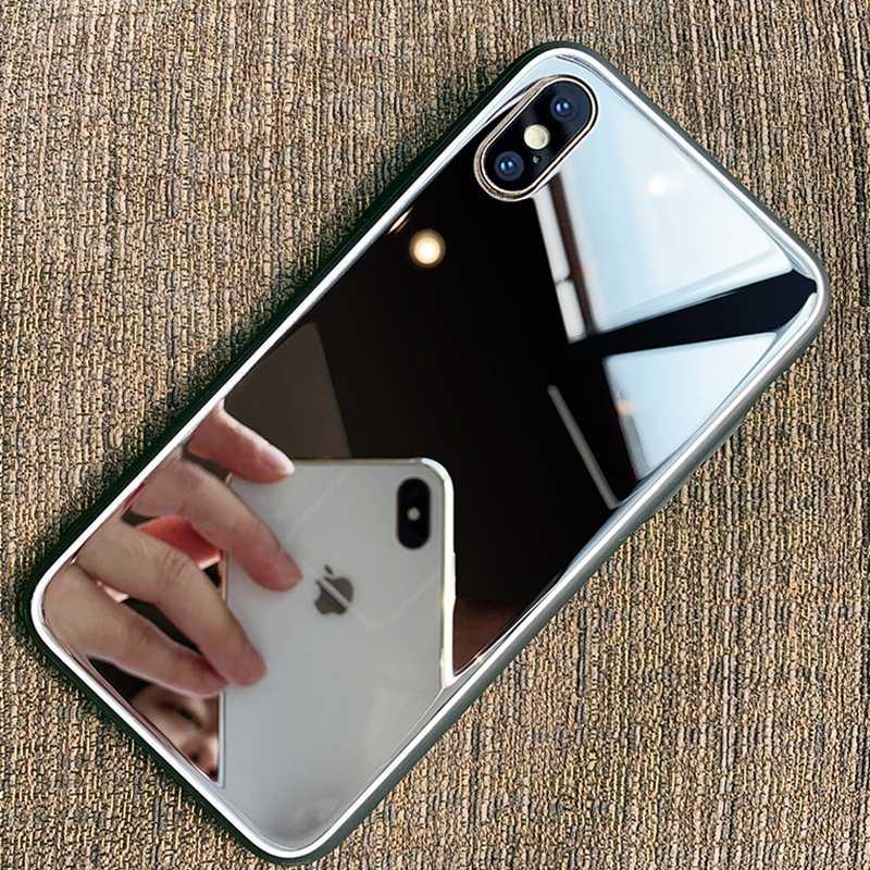Pełny widok lustro miękkie etui na Huawei P30 P20 Lite Pro Mate 20 10 P Smart 2019 Plus Nova 3 3i 5 5i Y5 Y6 Y7 Y9 2019 etui z termoplastycznego poliuretanu