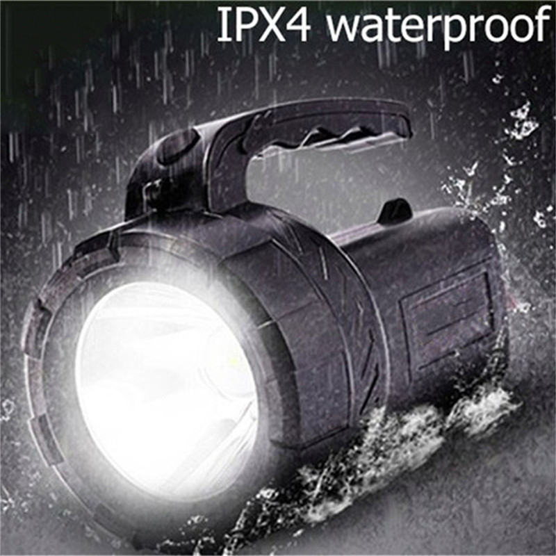 NDTUSMZ Hard Light Flashlight 18650 Rechargeable Lantern Long Range Outdoor Waterproof Hunter Lamp Portable Spotlight