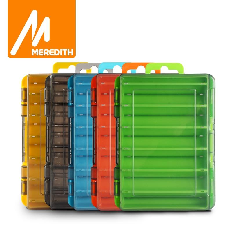 Caja de aparejos de pesca de lado, accesorio de pesca de 12 compartimentos, caja de almacenamiento de anzuelos de cebo, caja de almacenamiento de plástico 1
