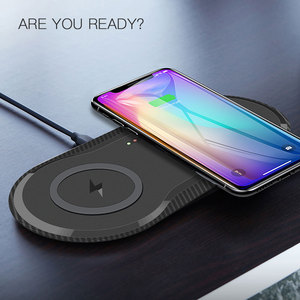 Image 3 - Desktop 10W Dual Wireless Charger for iPhone 11 Pro Max X XS Max XR Fast Wireless Charging Board for Samsung Galaxy Note 9