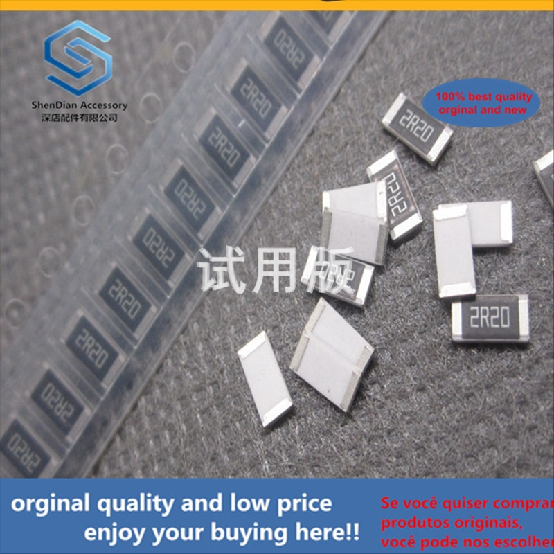 50pcs 100% Orginal New Best Quality SMD Resistor 2010 1% 2.2R 2.2Euro 2.2ohm Silkscreen: 2R2 3 / 4W 0.75W