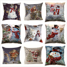 Cushion Cover Christmas Sofa Bed Home Decor Throw Pillow Case Kussenhoes Funda Cojin Housse de Coussin Cojines Pillowcase christmas decor sleeping bed throw pillow cover