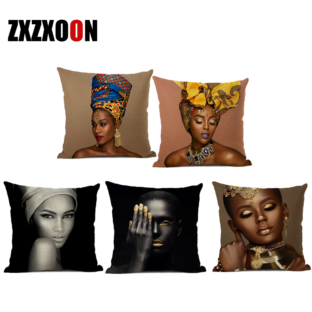 "Lady Portrait Printed Cushion Cover Sofa Home Décor Pillow Case 12/"",24/"""