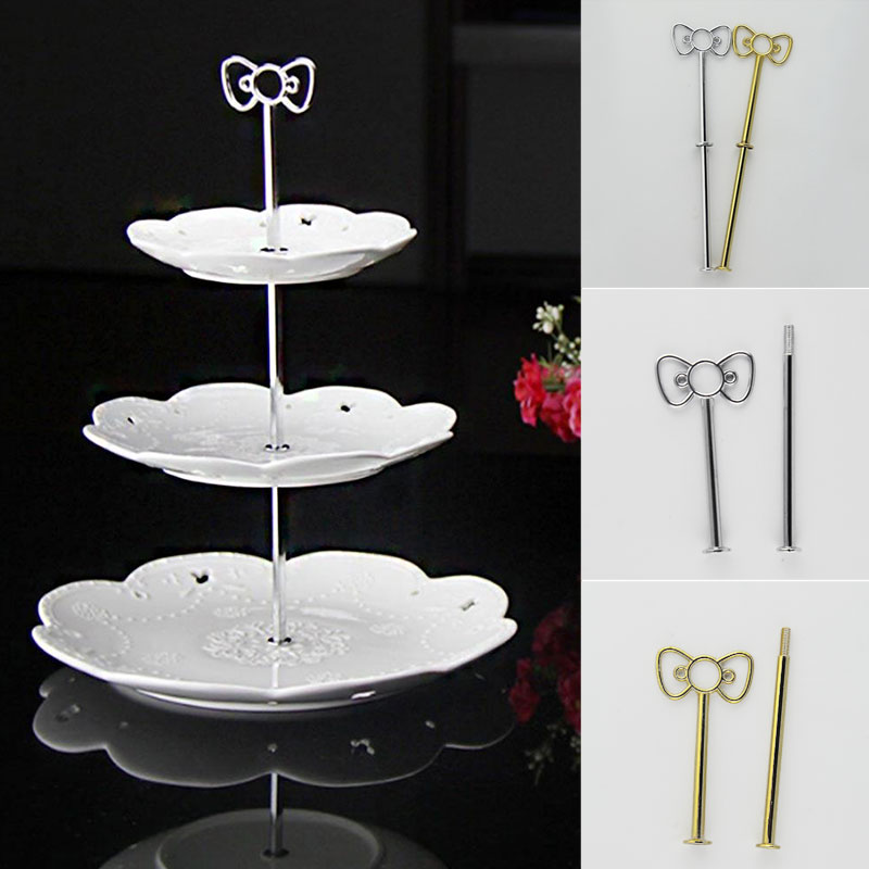 Bow Cake Plate Stand <font><b>Holder</b></font> Desserts <font><b>Cheese</b></font> Chocolate Candy Display Rack Alloy image