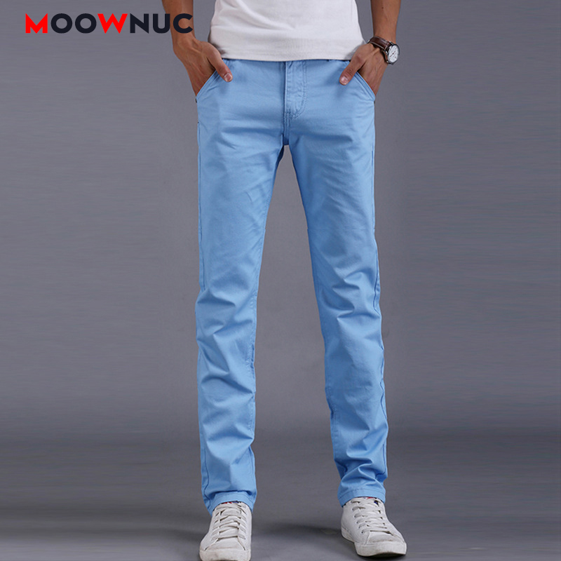 Male Long Pants Men's Trousers Plus Size Autumn Streetwear Slim Business Casual Elastic Hombre Fashion Straight 38 Brand MOOWNUC