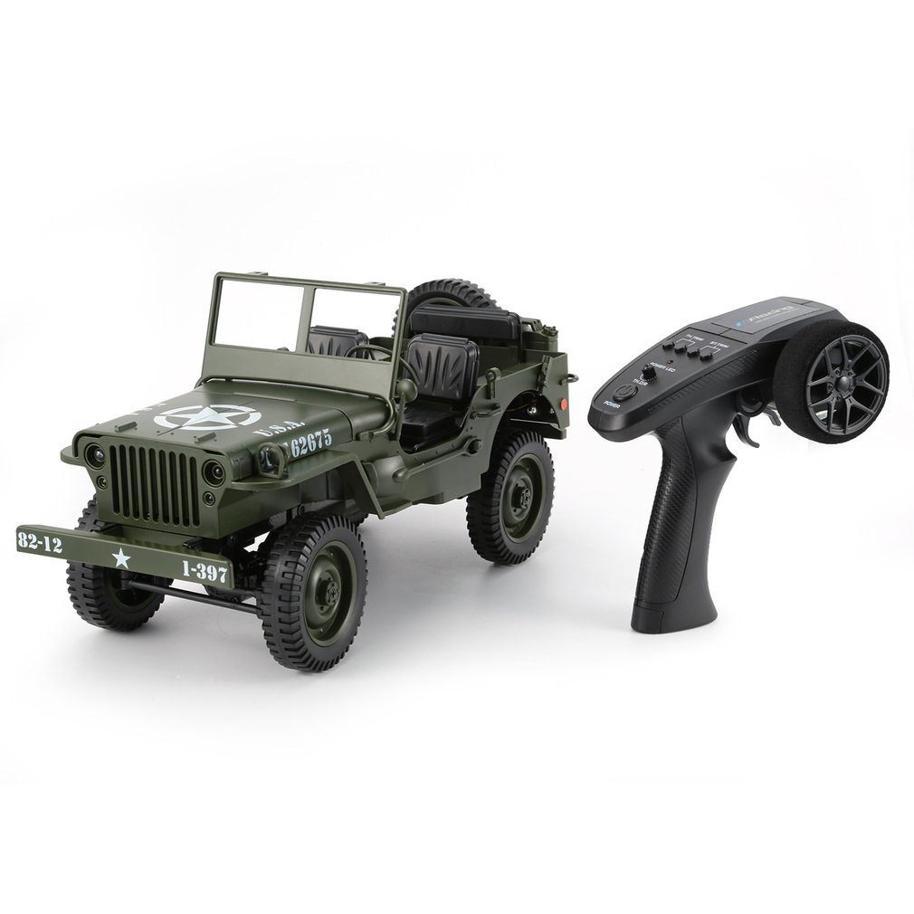 C606 1:10 RC <font><b>Car</b></font> 2.4G 4WD Convertible Remote Control Light Jeep Four-Wheel Drive Off-Road Military Climbing <font><b>Car</b></font> Toy <font><b>Kid</b></font> Gift image
