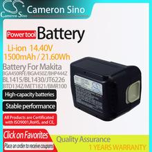 CameronSino bateria do narzędzi Makita 194065-3 BL1430 BL1415 JT6226 pasuje do BML145 BML145 BTD134D BSS500Z elektronarzędzia wymienna bateria cheap Cameron Sino CS-MKT130PW Li-ion 1500mAh 21 60Wh CN (pochodzenie) Baterie Tylko 97 64 x 73 41 x 64 82mm 14 40V Black China Battery