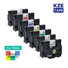Label-Tape 18mm Printer Strong-Adhesive Tze-S241 Multicolor Compatible for P-Touch Tze-s241/Tze-s241/Tzes241