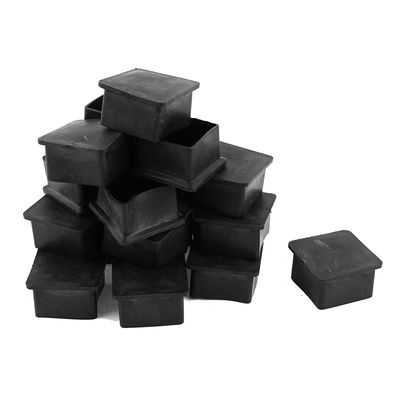 40mm X 40mm Square Rubber Furniture Leg Foot Cover Protector 24 Pcs