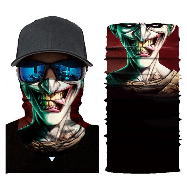 New Motorcycle Face Mask Halloween Scarf Mask face shield Head Scarf Neck Warmer Windproof Sun Mask Balaclava  Biker Masks