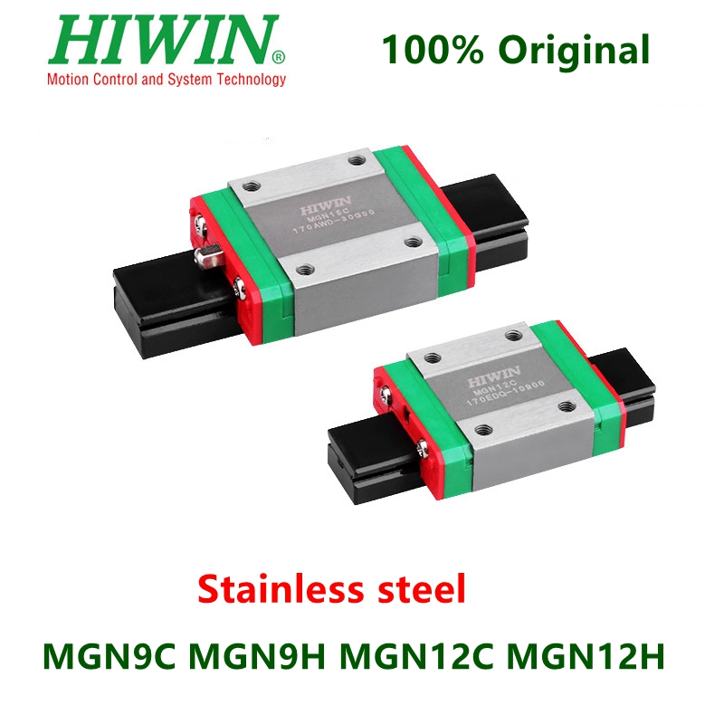 Hiwin Stainless Steel Linear Block MGN9C MGN9H MGN12C MGN12H Slider Carriage For MGN9 MGN12 Linear Guide Rail 3D Printer CNC