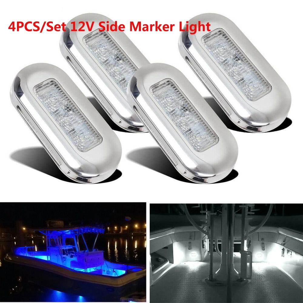 4 × 3 LED 12V ボート階段デッキサイドマーカーライト礼儀ライトインジケータ照明マリンボートアクセサリーテールライト