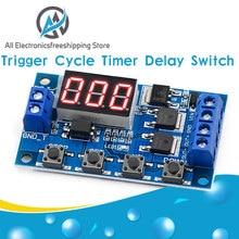 DC 12V 24V Dual MOS LED Digitale Zeit Verzögerung Relais Trigger Zyklus Timer Verzögerung Switch Circuit Board Timing control Modul DIY