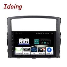 "Idoing 9 ""אנדרואיד 10 4G + 64G PX6 2Din היגוי גלגל עבור מיצובישי פאג רו V97 רכב מולטימדיה נגן GPS + Glonass רדיו ראש יחידה"