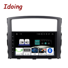 "Idoing  9""Android 10 4G+64G PX6 2Din Steering Wheel For MITSUBISHI PAJERO V97 Car Multimedia Player GPS+Glonass Radio Head Unit"