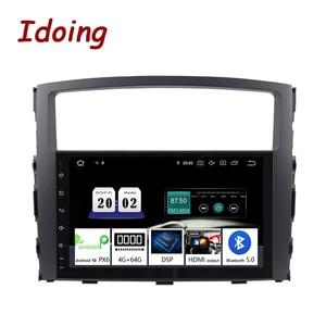Image 1 - Idoing Volante Multimedia con GPS para coche, Radio con navegador, Android 10, 9 pulgadas, 4G + 64G, PX6, 2DIN, unidad frontal de Radio, para MITSUBISHI PAJERO V97
