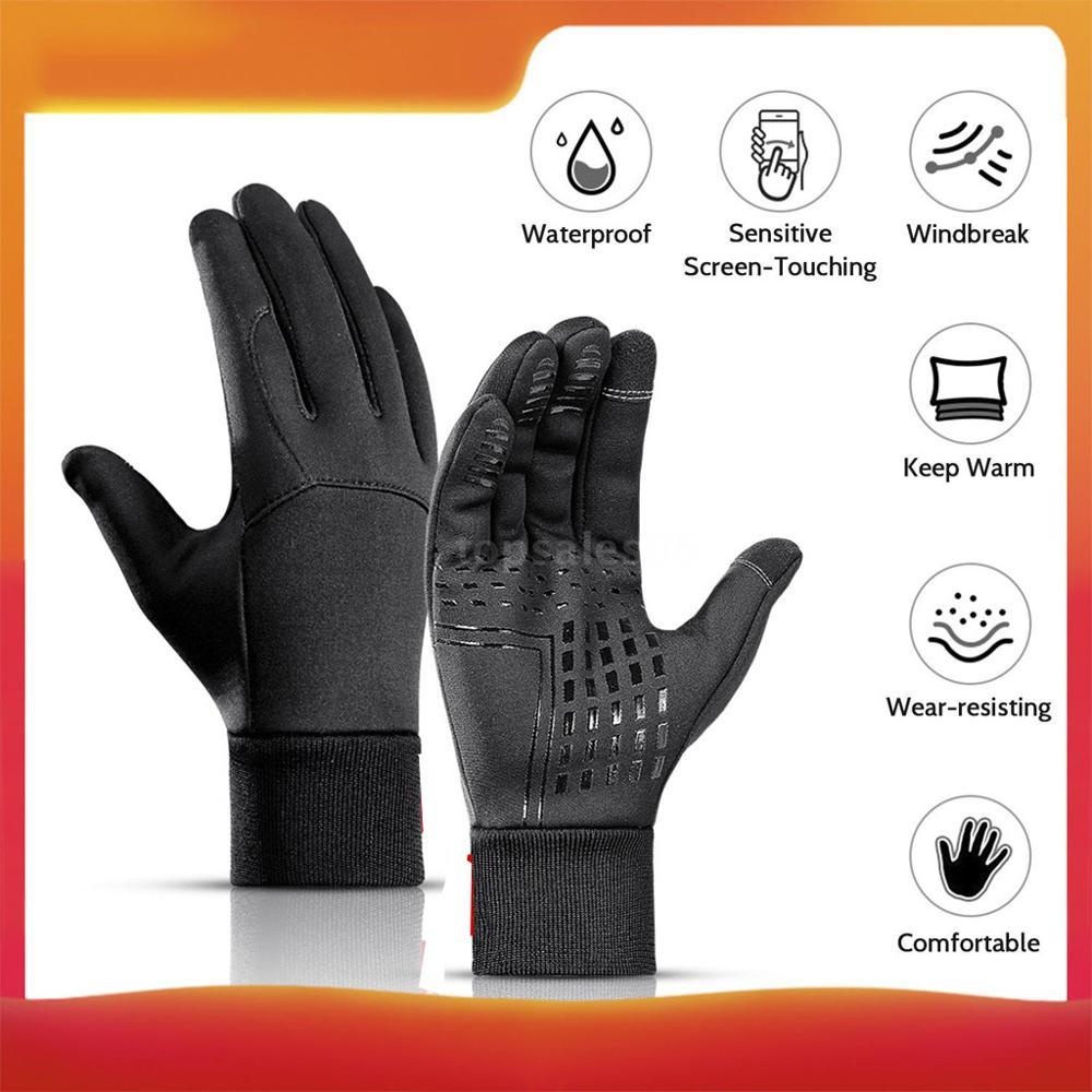 Warm Winter Gloves For Outdoor Ski Hiking Motorcycle Scooter Gloves Sports Waterproof Toccare Schermo