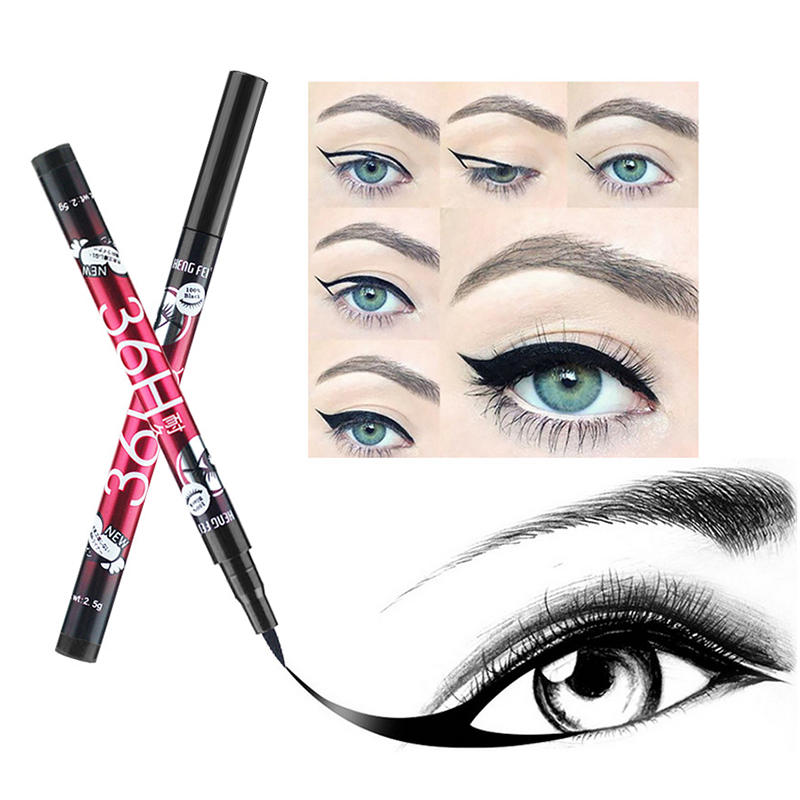 Waterproof Quick Dry Liquid Eyeliner Pencil Long Lasting Smudge-proof Eyeliner Pen Natural Black Eyeliner Eyes Makeup TSLM1