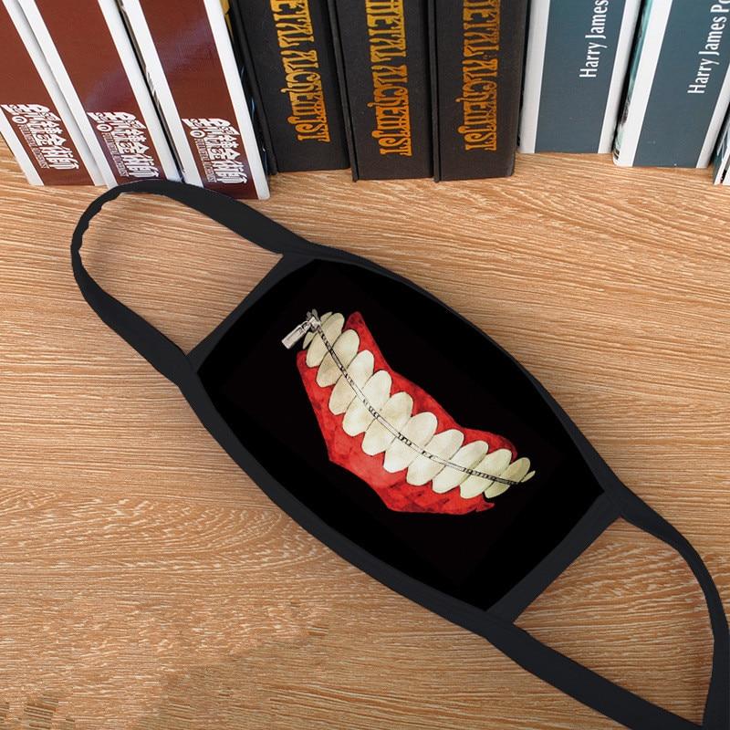 Attack on Titan Shingeki no Kyojin, Tokyo Ghoul, Kaneki Ken, Danganronpa Monokuma Mouth Masks (Buy one & get another for free) 2