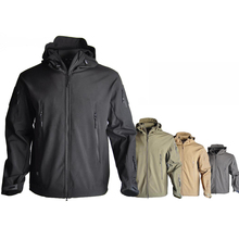 TAD Sharkskin Softshell Jacket Tactical Hunting Clothes Jacket Men Outdoor Sport Windbreaker Camping Hiking Winter Thermal Coat 2016 new winter wterproof thermal outdoor hiking softshell jacket men fleeced sport jacket coupe vent homme