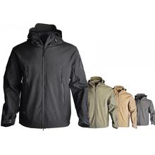 TAD Sharkskin kurtka typu softshell Tactical polowanie odzież kurtka mężczyźni Outdoor Sport wiatrówka Camping piesze wycieczki zimowy płaszcz termiczny tanie tanio COTTON AIRPOLAR 100 Szybkoschnące wodoodporne wiatroszczelna Termiczne ANTYSTATYCZNE Dobrze pasuje do rozmiaru wybierz swój normalny rozmiar