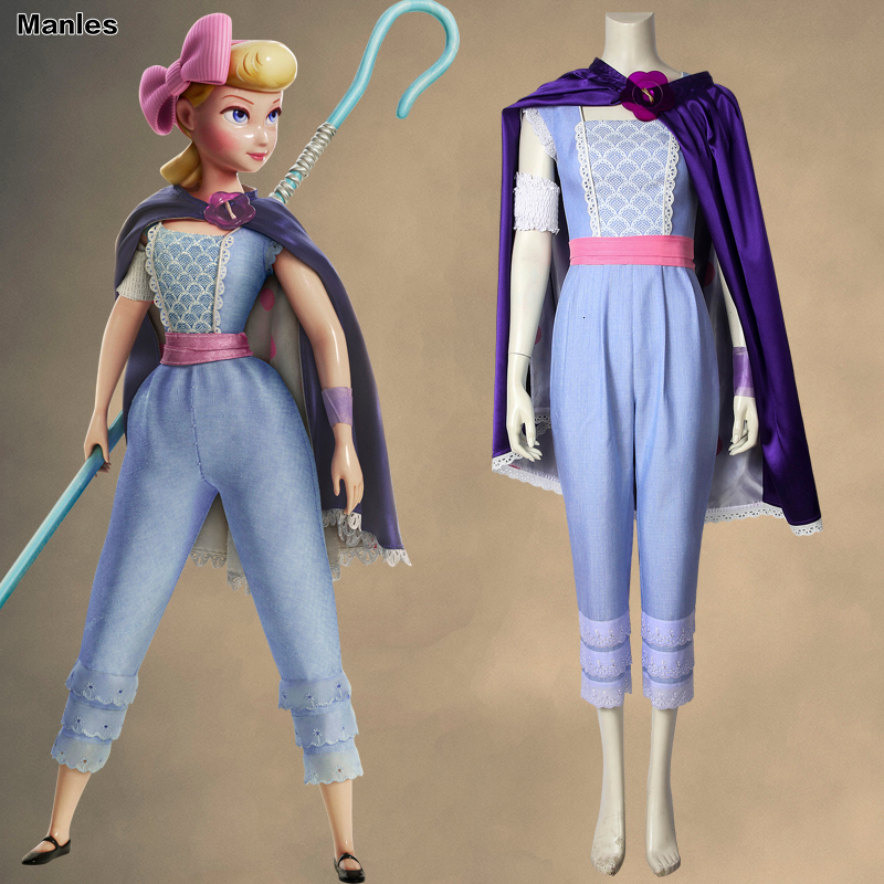 Toy Story 4 Cosplay Bo Peep Shepherdess Costume Carnival Woody Movie Babia Adult Halloween Custom Jumpsuit Cloak Unisex Uniform