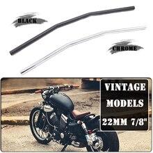 "Motorcycle 22mm 7/8"" Handlebar Handle Bar Metal Retro vintage Cafe Racer Curve Bend Custom Refit  Drag Bar For Universal Honda"