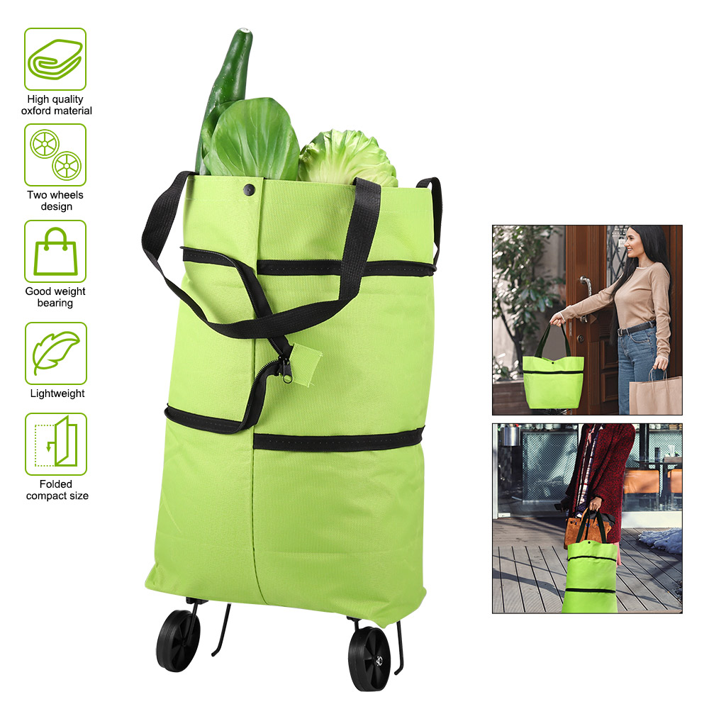 Foldable Shopping Trolley Tote Bag 2 In 1 Foldable Shopping Cart Portable Foldable Shopping Cart Trolley Tote Bag