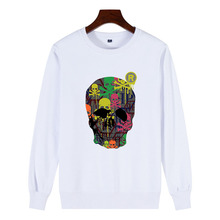 Brand classic skull pattern New Men Sweatshirt Doodle Print Vogue Street style cool personality Men's Pullover