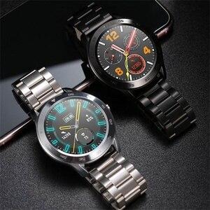 Image 4 - DT98 חכם שעון עמיד למים נשים גברים Smartwatch KSR909 עגול קצב לב מד צעדים מסר שיחת תזכורת חכם פעילות Tracker