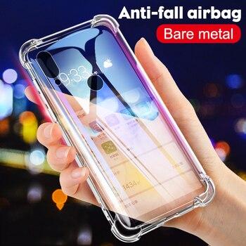 Coque de téléphone en Silicone antichoc de luxe pour Xiaomi Redmi note 8 7 5 Pro Redmi 7A Xiaomi mi 9t 9 A3 housse de Protection transparente 4