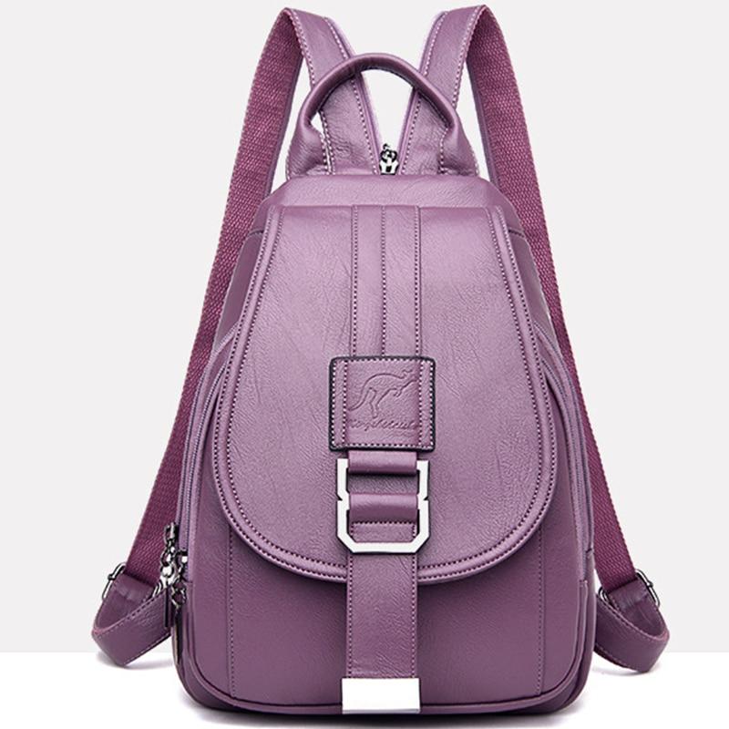 Women's Vintage Leather Backpack 2
