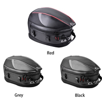 Hot Zipper Motorcycle Tail Bag Anti slip PU Rear Sport Pack Back Seat Travel Luggage Strap Waterproof Scooter Rider