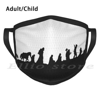 The Party Adult Kids Anti Dust DIY Scarf Mask Gandalf The Tolkien Middle Earth Frodo Bilbo Legolas Aragorn Return image