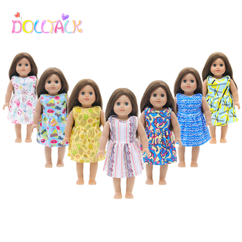 Girls Gift American Doll Clothes Outfit For 18 Inch and 43cm New Baby Our Generation Dolls Garment