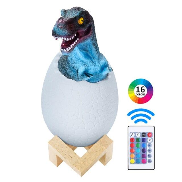 Desk Lamps Table Lamp LED Night Light Dinosaur Egg Bedside Lamp 3D Sensor Light