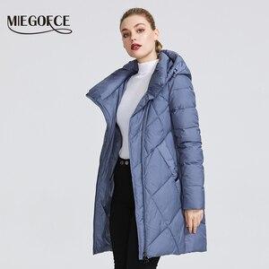 Image 3 - MIEGOFCE مجموعة شتاء 2019 للنساء معطف سترة دافئة للنساء عدة ألوان غير عادية منحنى سحاب يعطي نموذج نمط خاص