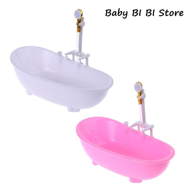 1/6 Dollhouse Miniatures Electric Bathtub Furniture Bathroom Accessories Kids Pretend Toy
