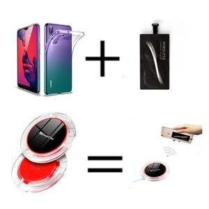 Image 1 - Für Huawei Honor 9X Drahtlose Ladegerät Telefon Zubehör Fall Für Huawei Ehre 9X Pro Qi Power Ladung Lade Pad mit empfänger
