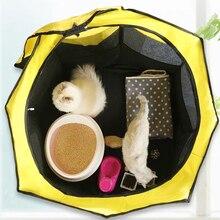 Taşınabilir Pet oyun kalem taşınabilir katlanır Pet köpek çadırı köpek evi sekizgen kafes kedi çadır oyun parkı köpek kulübesi kolay kullanım