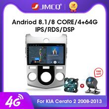 2DIN 2G + 32G Android 4G + Wifi samochodu Radio odtwarzacz multimedialny dla Kia Cerato 2 TD 2008-2013 nawigacja GPS Radio samochodowe Stereo jednostka główna tanie tanio JMCQ CN (pochodzenie) Double Din NONE 4 x 50W 128G Android 9 0 Jpeg Metial+Plastics 1024*600 1 7kg Bluetooth Wbudowany gps