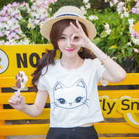 Han edition loose cotton short sleeve T shirt in the summer of big mm