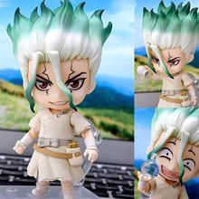 Dr.STONE Anime Figure Ishigami Senkuu Q version figma PVC Action Figure Anime Figure Model Toys Doll Gift
