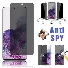 2021 частный защитный экран для Samsung Galaxy S21 S20 S10 S9 Plus S6 S7, противошпионское закаленное стекло для Samsung S20 S21 Ultra