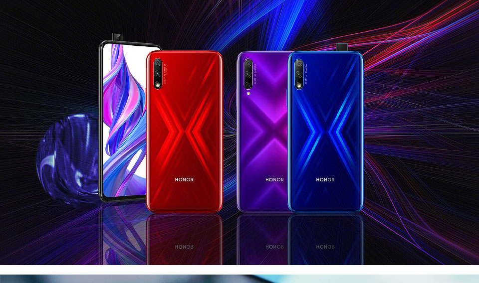 2019 New Honor 9X Mobile Phone 6.5'' Full Screen Kirin 810 Octa Core Support Google play 48MP Pop Up Front Camera 16MP 4000mAh
