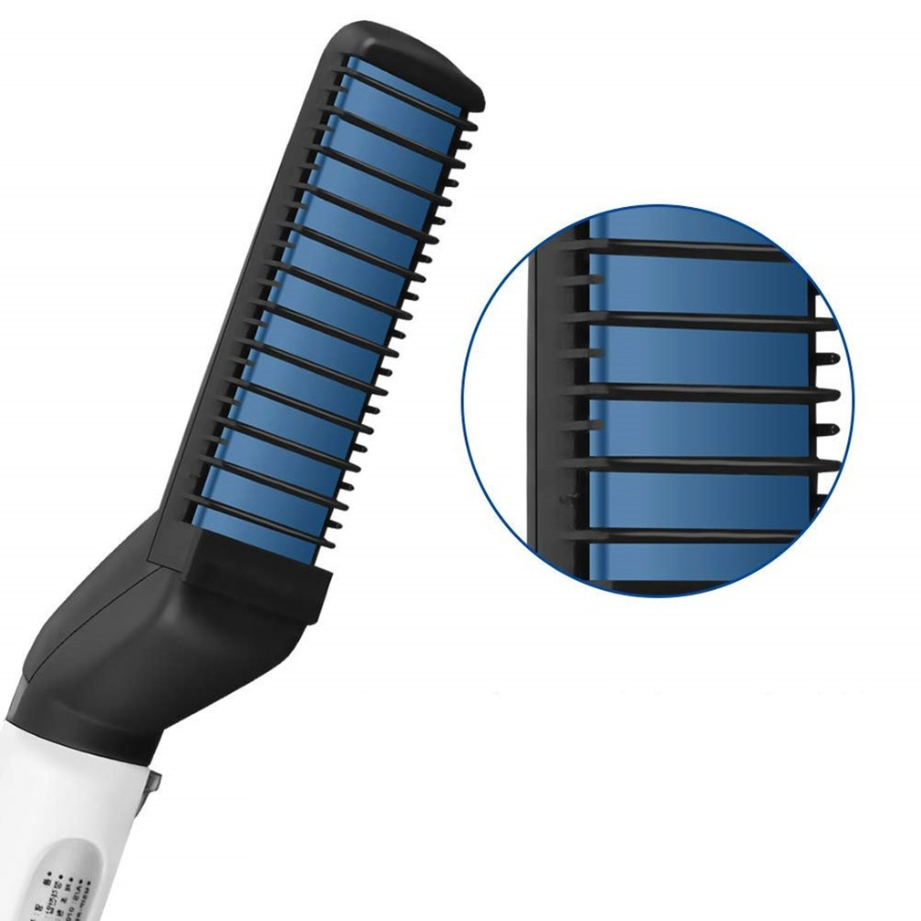 Multifunctional Portable Hair Comb Personal Care Men'S Hair Styling Comb Roll Straight Dual Comb Hairdressing Tools