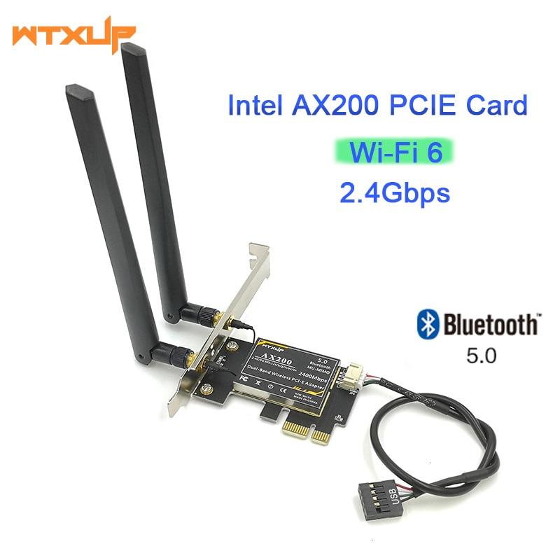 ax200 Bluetooth 5.0 dual band 2.4Gps 6th generation ax technology MU-MIMO Desktop PCIE 1X wifi card for Intel AX200NGW(China)