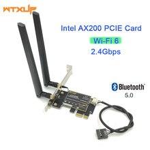 Ax200 Bluetooth 5,0, двухдиапазонный 2.4Gps 6-го поколения, технология ax, для настольного ПК, PCIE 1X, Wi-Fi карта для Intel AX200NGW