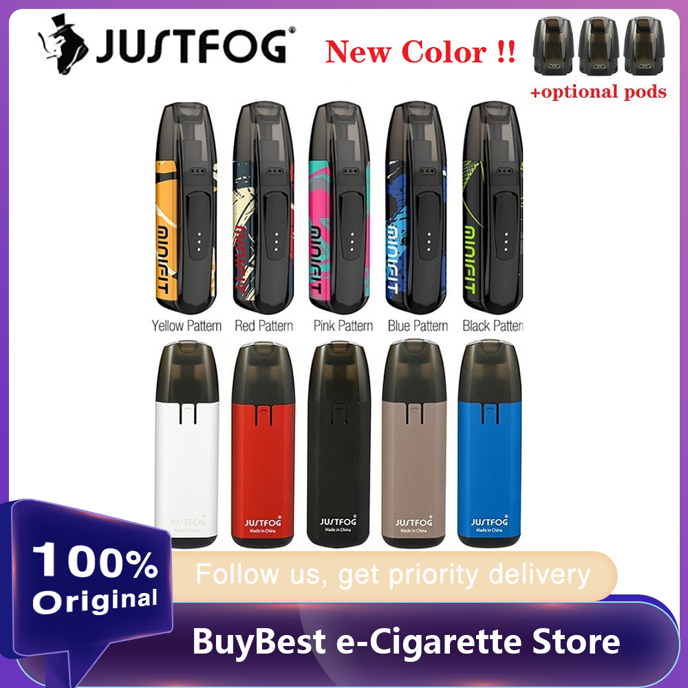 New Colors Kit Original JUSTFOG MINIFIT Starter Kit 370mAh With 1.5ml Refillable Cartridge & Built-in 370mAh Battery E-cig Vape
