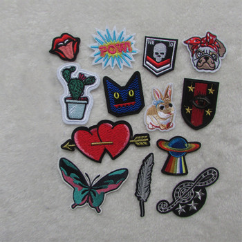 hot Style heart Patches For Clothing Iron On Embroidered Appliques DIY Apparel Accessories Patches F